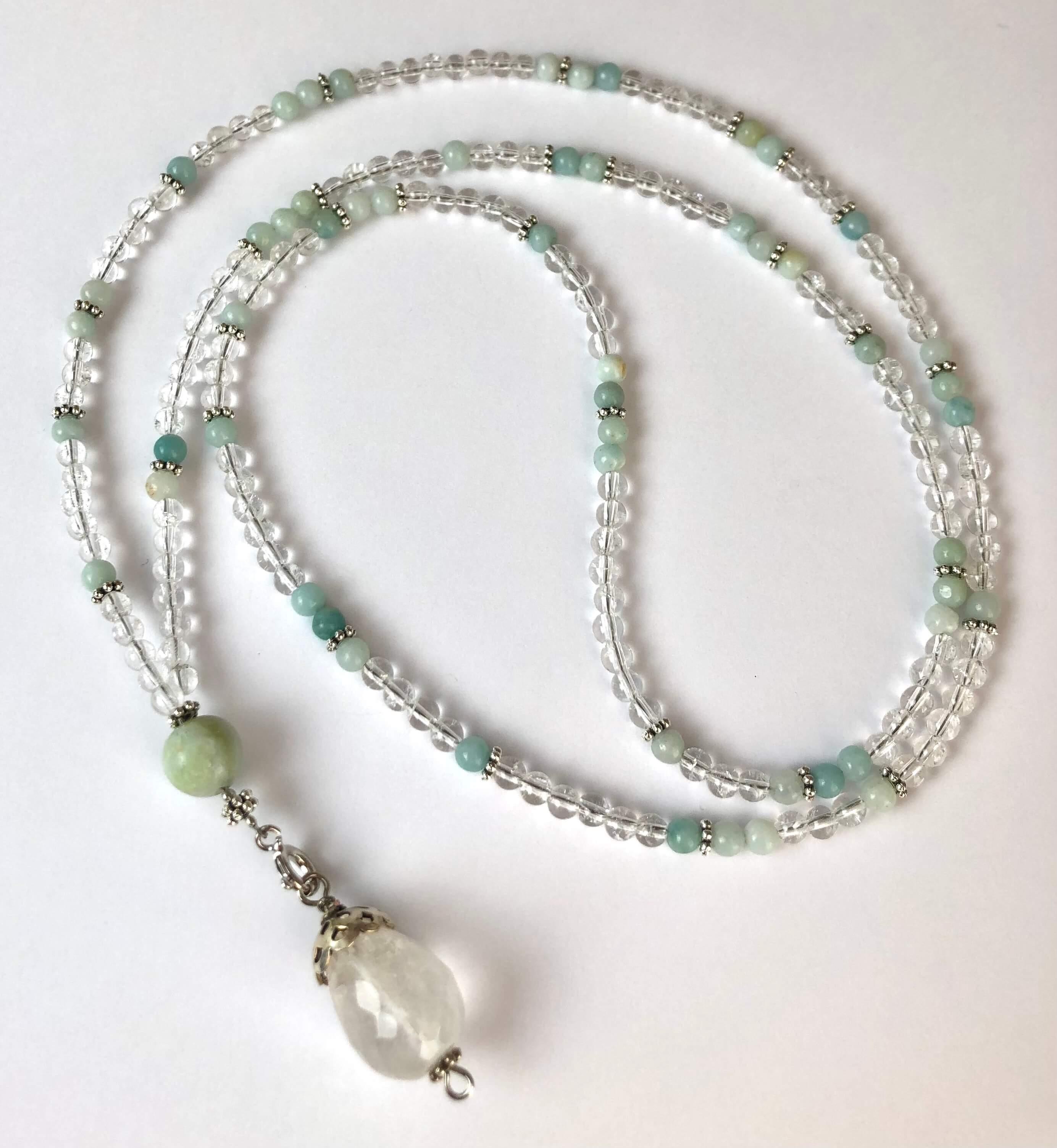 Rock Crystal & Amazonite Necklace