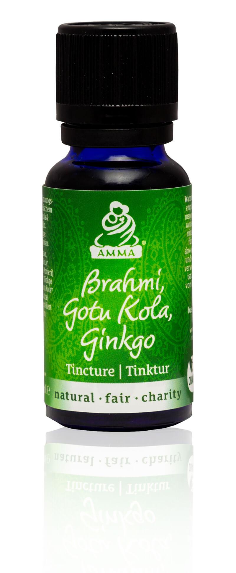 Brahmi, Gotu Kola & Gingko Tincture, organic