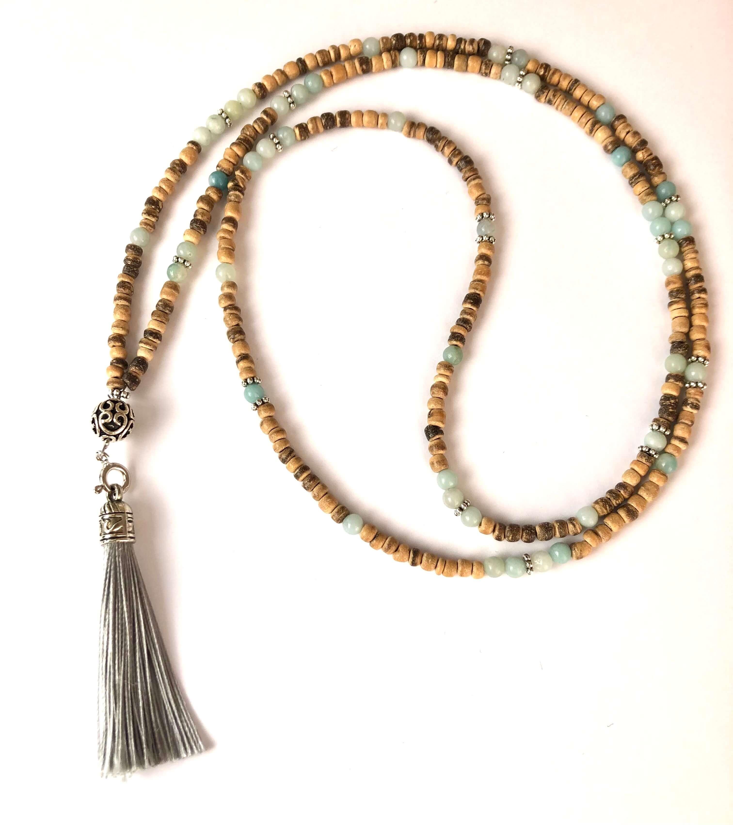 Coconut & Amazonite Necklace