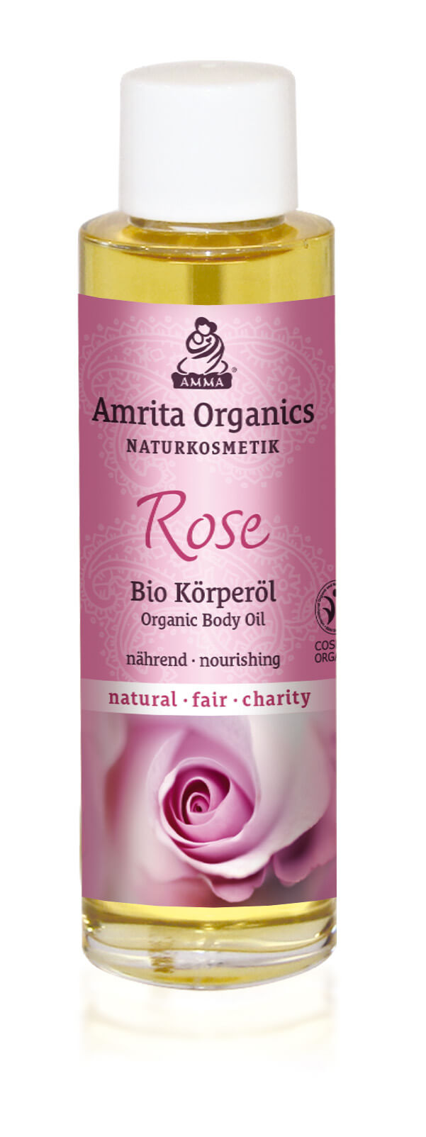 Body Oil Rose, organic