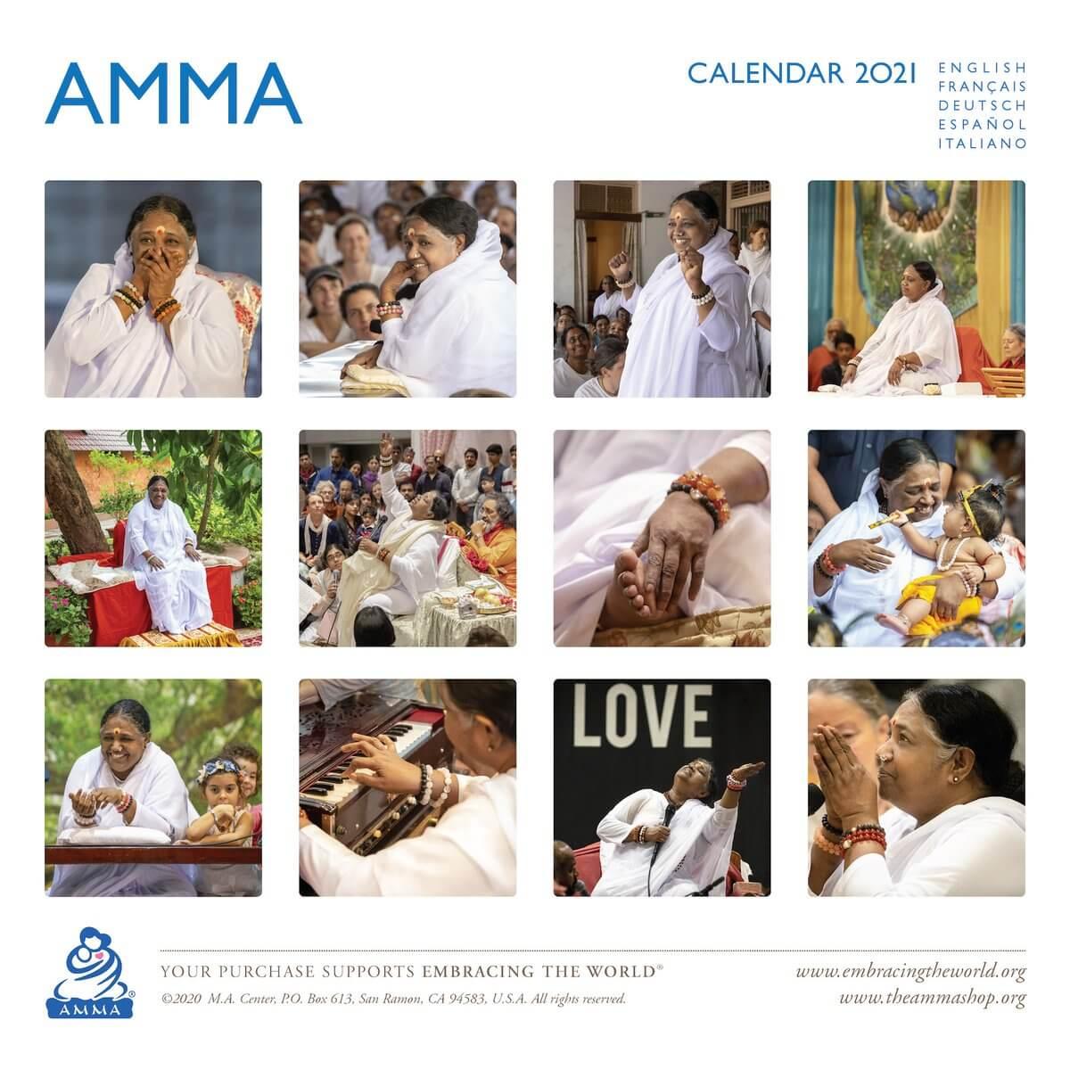AMMA 2021 Calendar