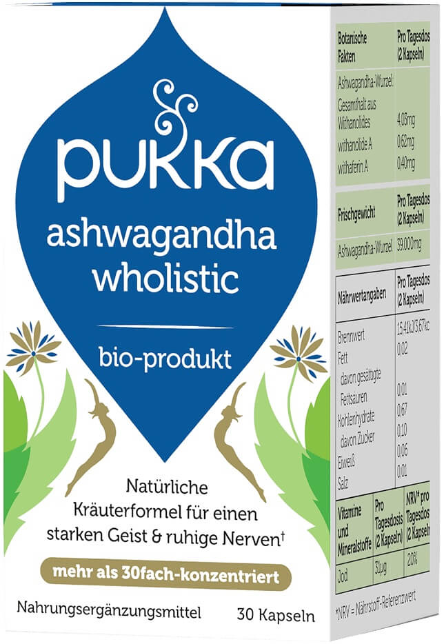 Ashwagandha wholistic, organic